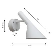 Louis Poulsen AJ 50 Outdoor wandlamp LED