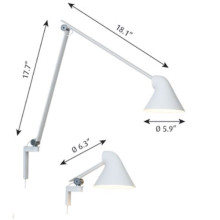 Louis Poulsen NJP short arm wandlamp LED