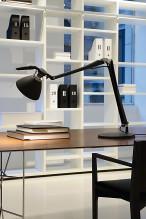 Luceplan Fortebraccio bureaulamp met aan-/uitschakelaar zwart