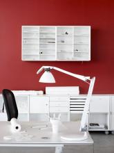 Luceplan Fortebraccio bureaulamp met dimmer wit