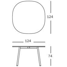 Magis Déjà-vu Table tafel wit rond medium 124