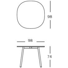 Magis Déjà-vu Table tafel wit rond small 98