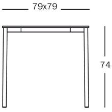 Magis Striped tuintafel 79x79