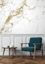 KEK Amsterdam Marble White Gold behang