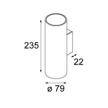 Modular Nude Double IP55 wandlamp LED