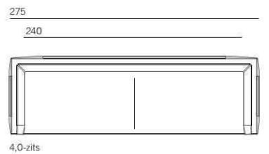 Montis Daley bank 4-zits grijs, stofsoort Bristi 75