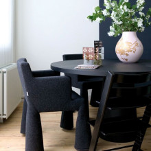 Moooi Container tafel rond zwart 90