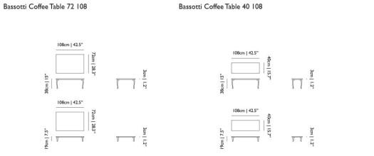 Moooi Bassotti salontafel 108x72