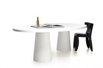 Moooi Container tafel ovaal wit 260x150