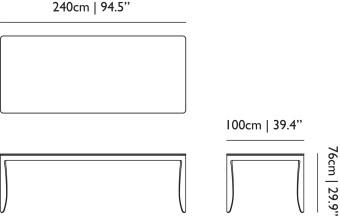 Moooi Monster tafel 240x100