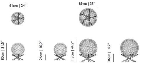 Moooi Raimond R89 Tensegrity vloerlamp LED