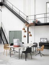Muuto 70/70 tafel 170 eetkamerset + 4 Fiber wood stoelen