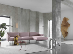 Muuto Outline bank 3-zits met chaise longue rechts