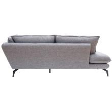 Nuuck Kvinde Sofa bank met chaise longue links Fast 125 Silver