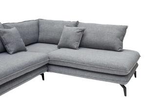 Nuuck Kvinde Sofa bank met chaise longue rechts Fast 125 Silver