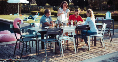 Fermob Oléron tuinset 205x100 tafel + 6 stoelen