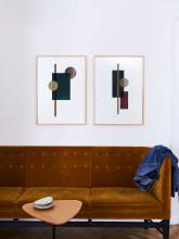 Paper Collective Shapes of Colour 03 poster incl. eiken lijst 50x70