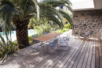 Houe Sketch Bamboo tuinset 220x88 tafel + 6 stoelen (armchair)