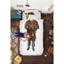 Snurk Piraat dekbedovertrek 160x210 - let op: afwijkende maat