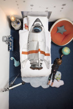 Snurk Rocket dekbedovertrek 1-persoons