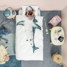 Snurk Shark!! dekbedovertrek 140 x 200/220