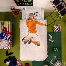 Snurk Soccer Champ dekbedovertrek oranje 140x200