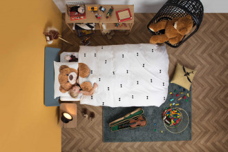 Snurk Teddy bear dekbedovertrek 140x200