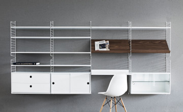 String Furniture Magazine Shelf Wood 58 x 30 cm