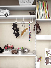 String Furniture Metal shelf high edge 78x30 1-pack