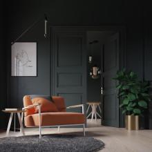 Studio HENK Co fauteuil met wit frame