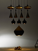 Tom Dixon Beat Light Wide hanglamp zwart