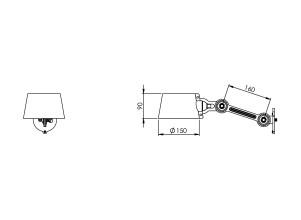 Tonone Bolt Sidefit wandlamp small