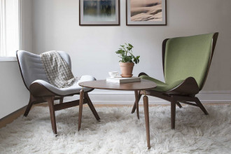 Umage The reader fauteuil Donker eiken