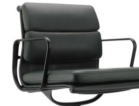 Vitra Aluminium Chair Black EA 208 Soft Pad