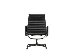 Vitra Aluminium Chair EA 116 draaibaar, zwart aluminium onderstel