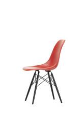 Vitra Eames DSW Fiberglass stoel esdoorn zwart
