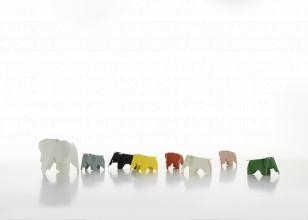 Vitra Eames Elephant woondecoratie small