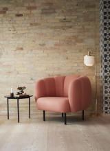 Warm Nordic Cape Lounge fauteuil met stitches