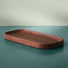 Warm Nordic Carved houten dienblad ovaal