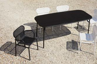 Petite Friture Week-end tuinset 180x85 tafel + 4 stoelen