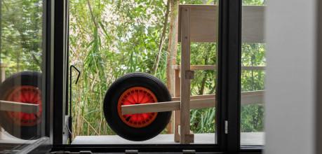 Weltevree Wheelbench tuinbank eiken