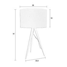 Zuiver Tripod Wood tafellamp