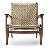 Carl Hansen & Son CH25 fauteuil natural paper cord, geolied walnoot