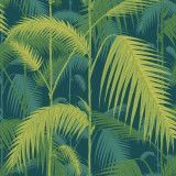 Cole & Son Palm Jungle behang Petrol Lime