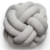 Design House Stockholm Knot kussen 30x30 white grey