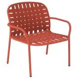 Emu Yard Lounge fauteuil scarlet red/red