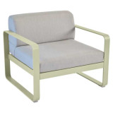 Fermob Bellevie fauteuil kussen flannelgrijs Willow Green
