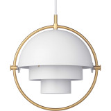 Gubi Multi-Lite hanglamp small, brass base, wit semi matt