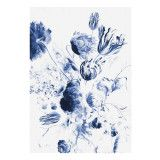 KEK Amsterdam Royal Blue Flowers II behang