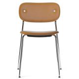 Menu Co Chair stoel gestoffeerd chroom onderstel